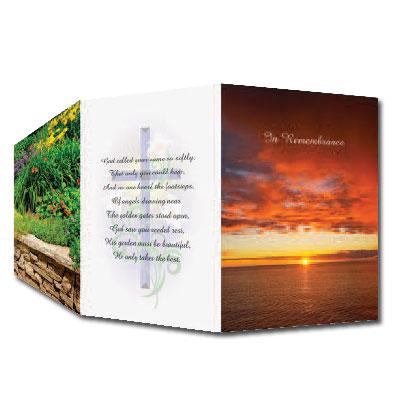 Tri-Fold Memorial Cards